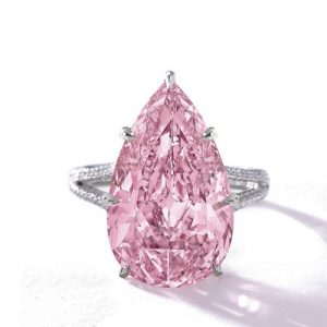 8.41Ct Pear-Shaped Engagement Ring
