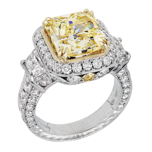 Yellow RADIANT CUT Cocktail Party Ring