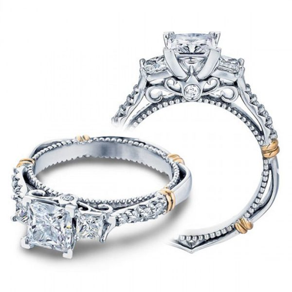 925 Sterling Silver Princess Diamond Engagement Rings Ring 2.30 CTW