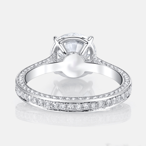 1.45Ct Forever Near White Brilliant Moissanite Engagement Wedding Bridal Ring 925 Sterling Silver