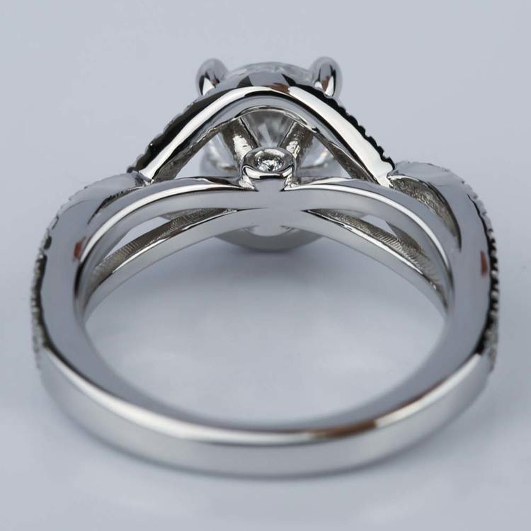 Solitaire 1.25Ct Near White Moissanite Infinity Engagement Ring 925 Sterling Silver