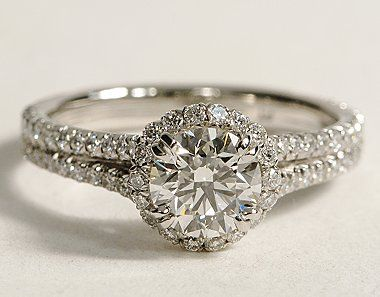 1.48Ct Brilliant Cut Real Moissanite Halo Engagement Wedding Ring 925 Sterling Silver