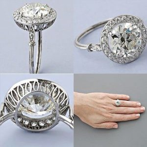 1.87Ct Round Cut VVS1 White Moissanite Engagement & Wedding Ring 14k White Gold