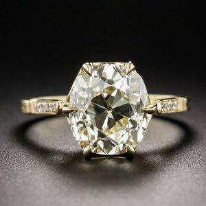 2.40Ct Forever Cushion Cut Diamond 6-Prong Engagement Ring 14k Yellow Gold