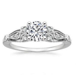 1.50Ct Off White Diamond Vintage Style Engagement Ring 925 Sterling Silver