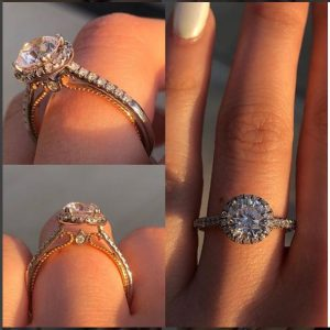 2.05Ct Brilliant Cut Diamond Fancy Engagement Bridal Ring Party 925 Sterling Silver