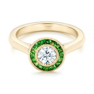 1.50Ct Excellent White Round Diamond Bezel Engagement Ring in 14k Rose Gold