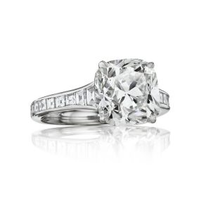 3.00Ct Cushion Cut White Diamond Classic Bridal Engagement Ring 14k White Gold