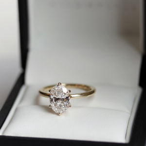 2.60 Ct Solitaire Oval Cut White Diamond Beautiful Engagement Ring Real 14k Yellow Gold