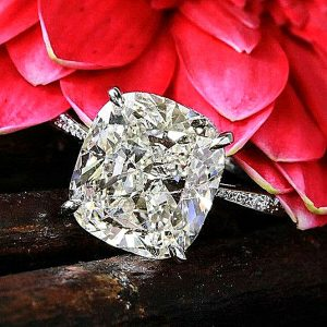 Gorgeous 3.30Ctw Cushion Cut Brilliant Diamond Engagement Ring Solid 14k White Gold