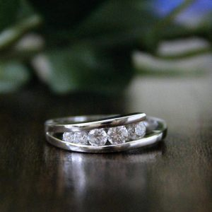 1.CT 5-Stone Round Moissanite Tension Set Engagement Ring Real 925 Starling Silver