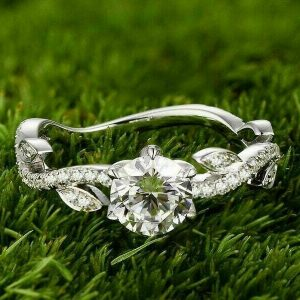 Antique 1.58CT Brilliant Round Moissanite Engagement Ring Real 925 Starling Silver